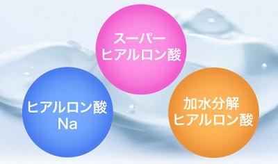 トリプルヒアルロン酸で保湿効果