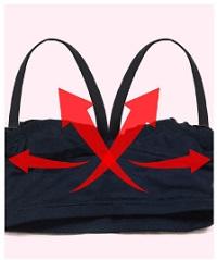 X字の肩紐