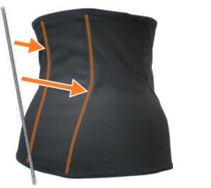 背筋スッキリボーン構造